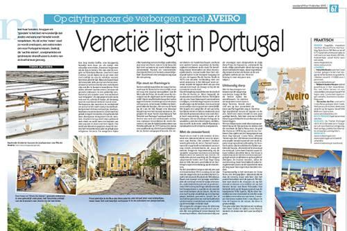 Artikel over Aveiro, Portugal in Het Laatste Nieuws