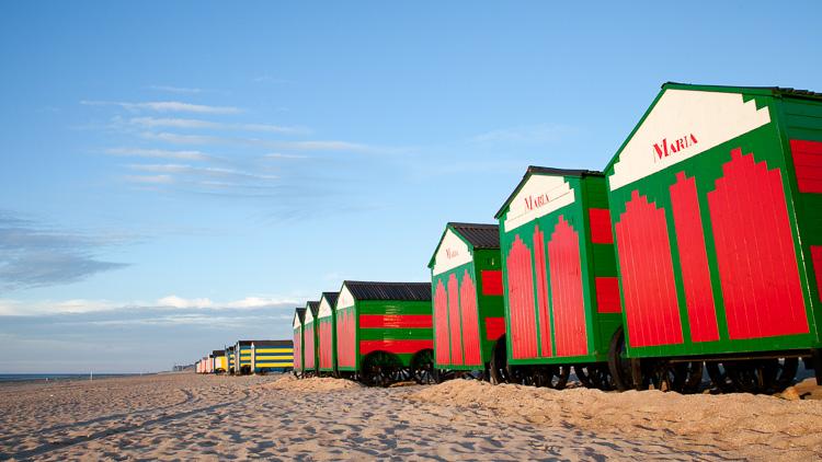 Strandhuisjes in De Panne