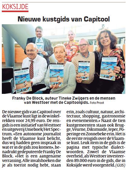Artikel over Capitool Vlaamse Kust in Het Laatste Nieuws, 3 april 2014