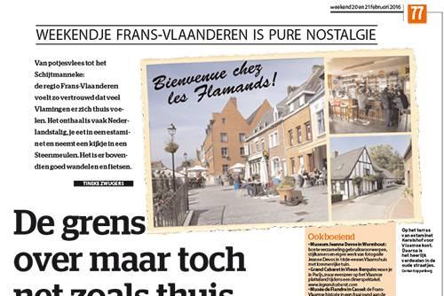 Artikel over Frans Vlaanderen in Het Laatste Nieuws