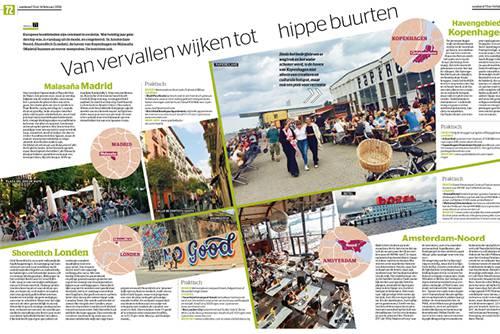 Artikel over hippe wijken in Het Laatste Nieuws