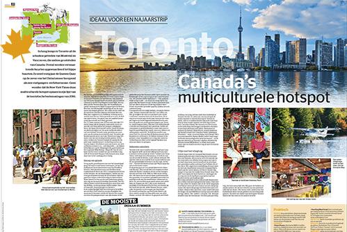 Artikel over Toronto in Het Laatste Nieuws