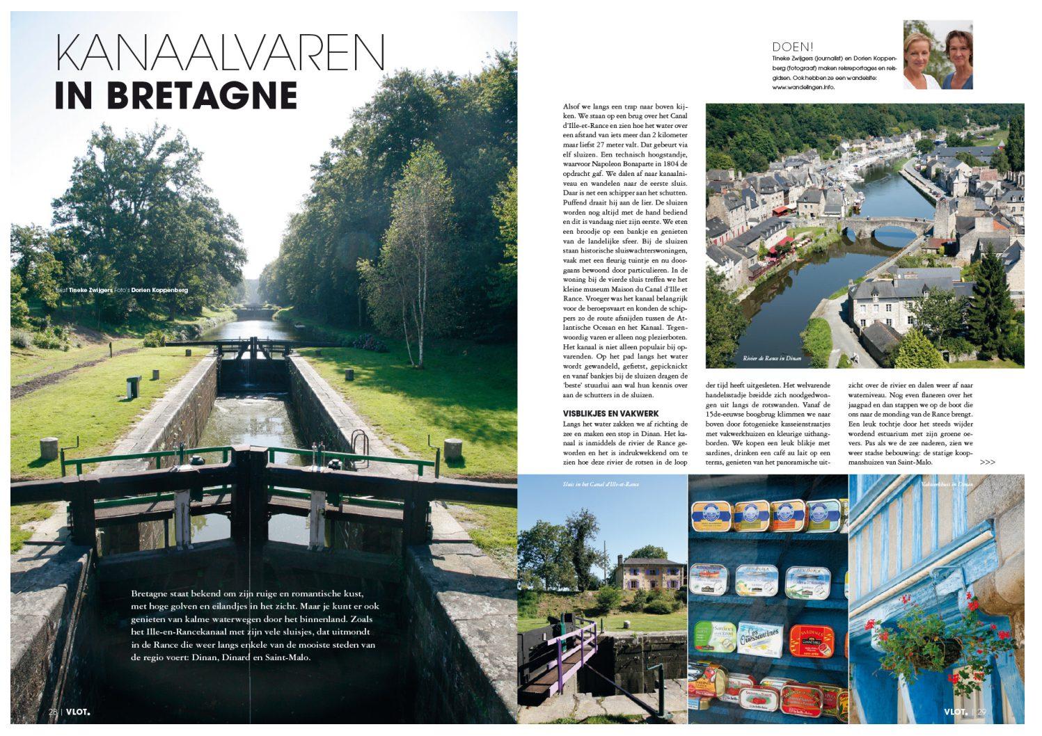 Artikel over kanaalvaren in Bretagne, voor VLOT Magazine