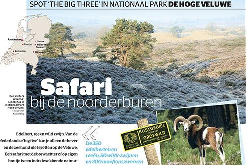 Artikel over Nationaal Park de Hoge Veluwe in Het Laatste Nieuws